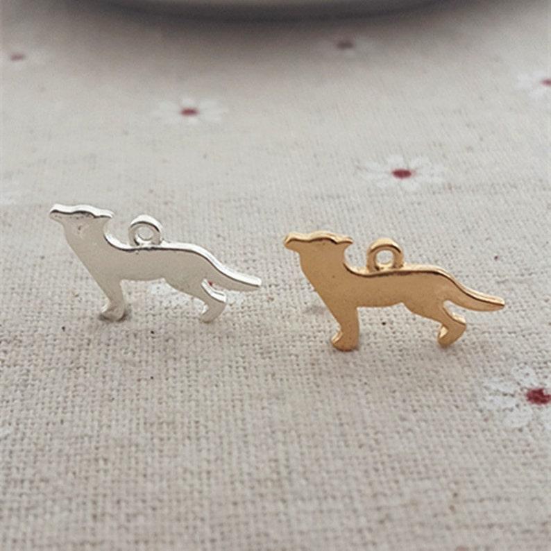 8bc8d420031de 8PCS 2 Colors Available German Shepherd Dog Pet Dog Charm Pendant ---  Silver/Gold Tone, Jewelry Supply --- 11X20mm, CM284-1096
