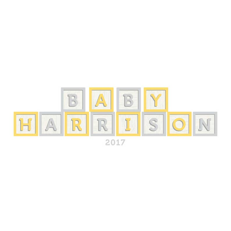 Custom Print Poster Baby Shower Decoration Sign DIGITAL DOWNLOAD Personalised Printable Baby Blocks Baby Shower Guest Book Alternative