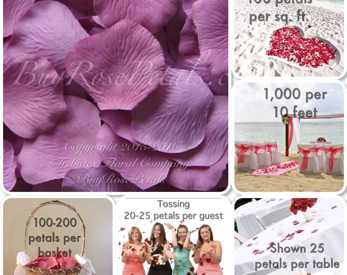 500 Lilac Rose Petals- Artificial Rose Petals for Weddings, Flower Girls & Petal Toss