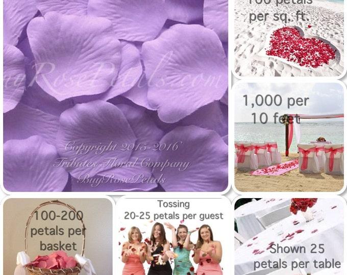 500 Lavender Rose Petals- Artificial Rose Petals for Weddings, Flower Girls & Petal Toss