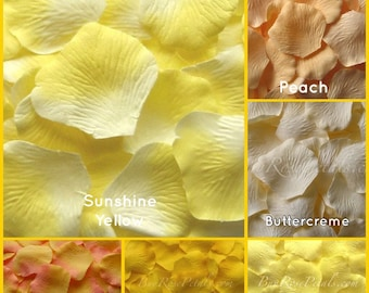 Yellow Rose Petals - 500 Silk Rose Petals