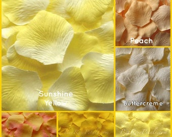 Yellow Rose Petals - 2,000 Silk Rose Petals