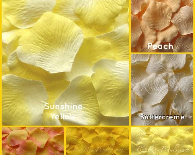 Yellow Rose Petals - 2,000 Silk Rose Petals