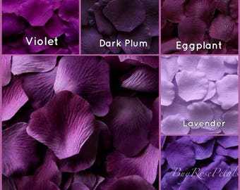 Purple Rose Petals - 1,000 Silk Rose Petals