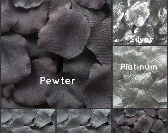 Silver Rose Petals -  500 Silk Rose Petals, fake rose petals, artificial rose petals