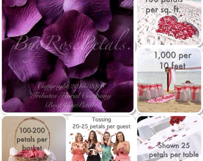 500 Varigated Grape- Artificial Rose Petals for Weddings, Flower Girls & Petal Toss