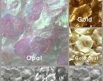 Metallic Rose Petals - 500 Artificial Silk Rose Petals