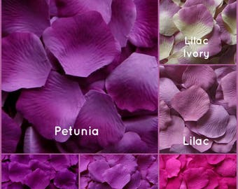 Purple Rose Petals - 500 Silk Rose Petals