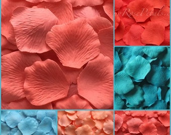 Caribbean Color Rose Petals - 5,000 Silk Rose Petals