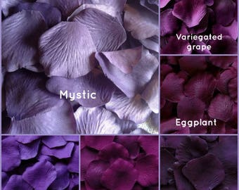 Plum Rose Petals - 1,000 Artificial Silk Rose Petals