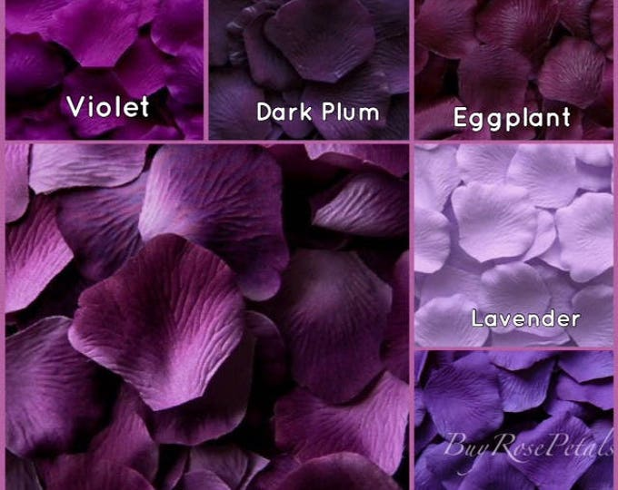 Plum Rose Petals - 5,000 Bulk Silk Rose Petals