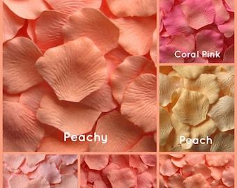 Peach Silk Rose Petals -1,500  Rose Petals
