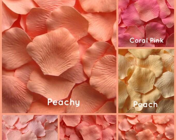 Peach Rose Petals -5,000 Bulk Silk Rose Petals