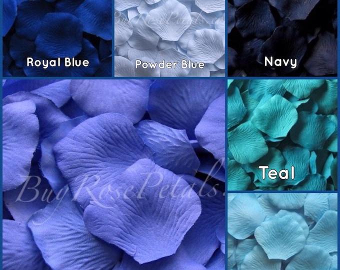 3,000 Blue Shades Rose Petals - Silk Rose Petals