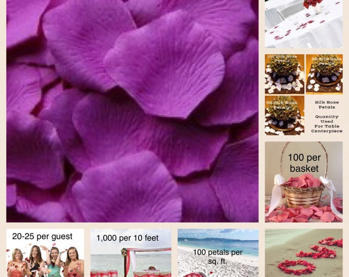 500 Orchid Rose Petals - Artificial Rose Petals - Silk Flower Petals