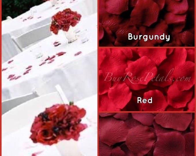 Red Rose Petals- 500 Silk Rose Petals