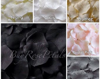 3,000 Silk Rose Petals - Neutral Colors