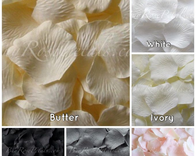 Neutral Shades Silk Rose Petals -1,500 Rose Petals