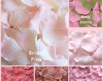 Pink Rose Petals - 500 Artificial Silk Rose Petals