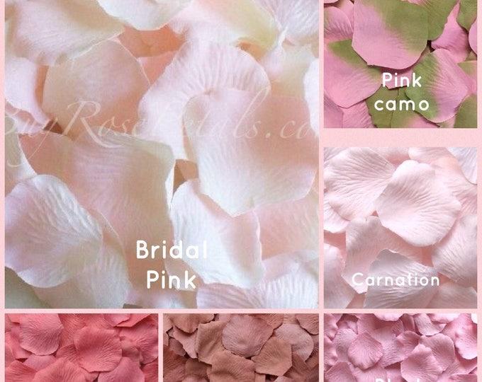 Pink Rose Petals - 500 Artificial Silk Rose Petals