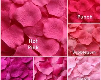 Hot Pink Rose Petals -  500 Silk  Rose Petals