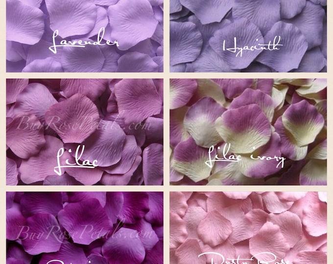Lavender Rose Petals - Shades of Lavender Silk Rose Petals