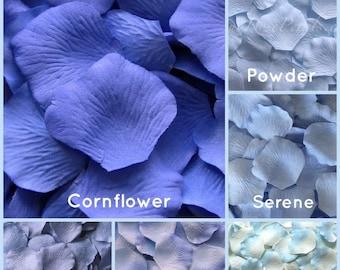 Light Blue Silk Rose Petals - 1,500 Rose Petals