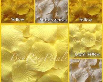 3,000 Yellow Rose Petals - Silk Rose Petals