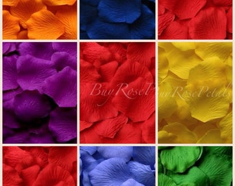 Rainbow Rose Petal Blend -1,000 Silk Rose Petals