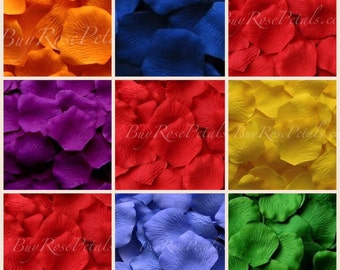 Rainbow Color Blend Rose Petals- Silk Rose Petals