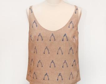 Summer Tank Top Organic Cotton Printed Vest