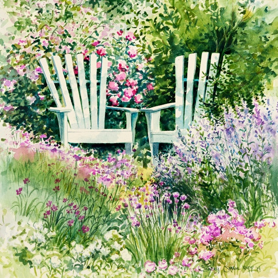 flower painting, garden art \