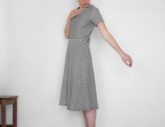 Vintage gingham dress | 60s vintage checkered dres