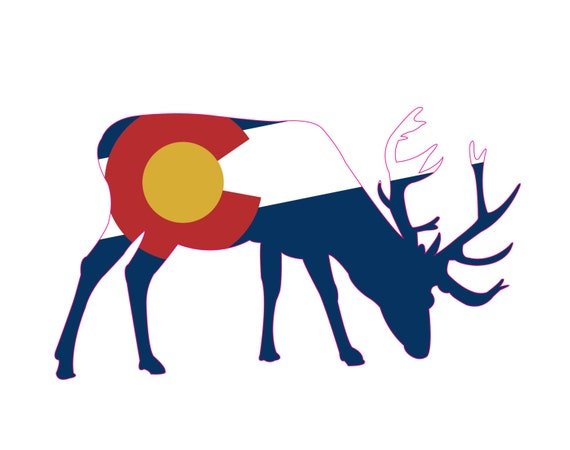 Colorado State Flag Good Life Die-Cut Sticker