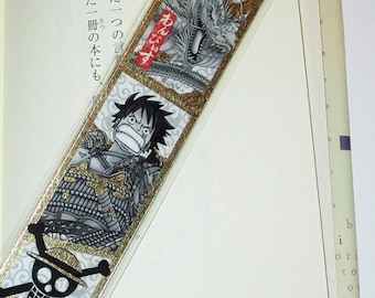 One piece Bookmark for books / Japanese Anime bookmark / laminated Bookmark