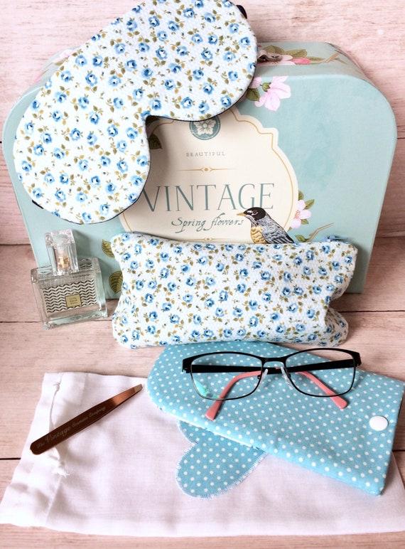 Sleep Mask Cosmetics Bag and Glasses Case Gift Set. Holiday  7fd56e8a33b3a