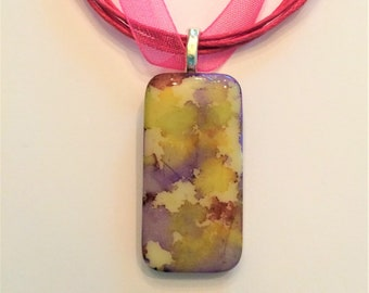 Alcohol Ink Pendant Necklace (Free shiping)