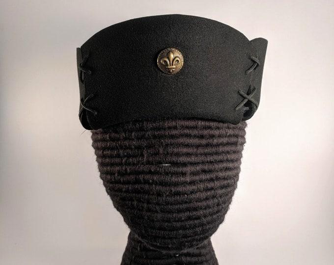 French Fleur de Lis Laced Hat - Gothic - Renaissance - 15th c. France