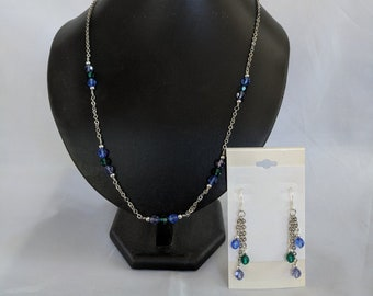 Mother's Day Crystal Birthstone Necklace and Earrings