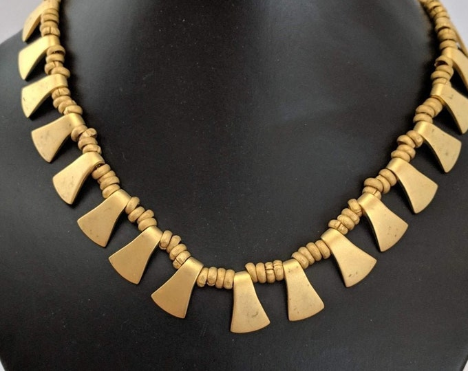 Vintage Traditional Trapazoid Necklace - Aztec - Inca - Mayan Native American