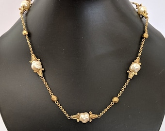 Glass Freshwater Pearl Necklace - Antiquities Elizabethan Renaissance