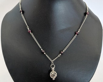 Genuine Garnet Capricorn Zodiac Necklace - Astrology ......