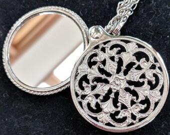 New - Silvertone Girdle Mirror - Elizabethan Italian Renaissance