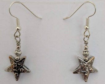 Egyptian Goddess Star Earrings - Nut - Sky Goddess - Universe