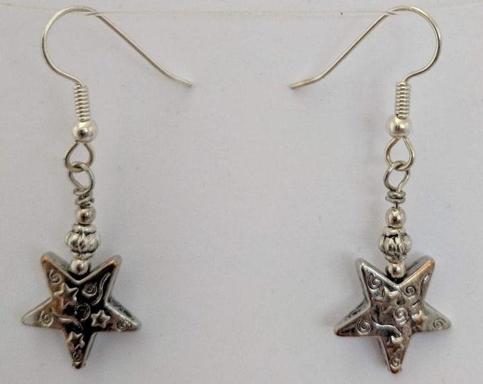 Egyptian Goddess Star Earrings - Nut - Sky Goddess - Universe