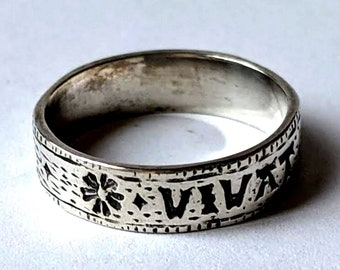 Long Live the King and the Law Lawyers Ring 17th c Sterling Silver