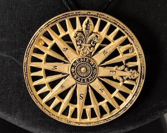 Vintage Compass Rose Pendant or Brooch - Peabody Essex Museum - 19th century
