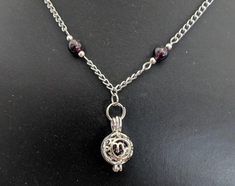 Genuine Garnet Capricorn Zodiac Necklace - Astrology ......
