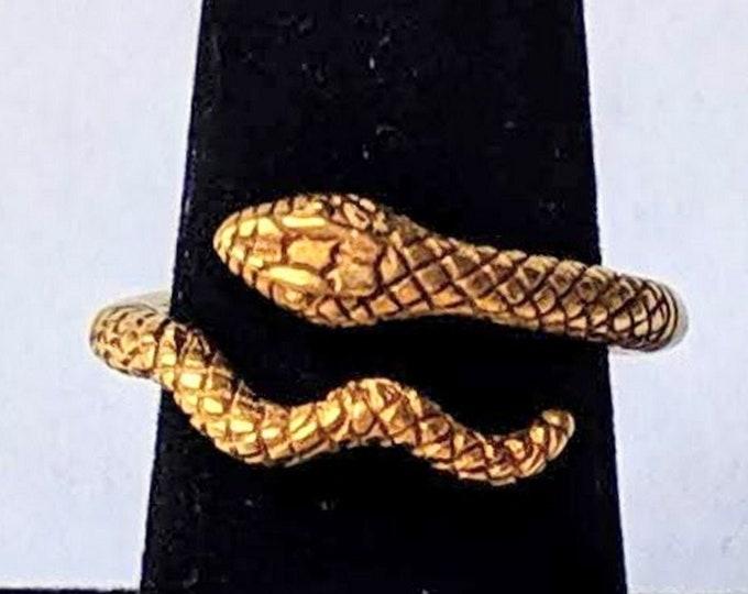 Vintage Egyptian Snake Ring - Cleopatra -  Egypt