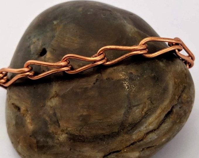 Copper Stirrup Link Bracelet - Handmade Loop Links